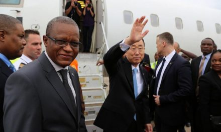 Ban Ki-Moon is positioned more towards dialog in DRC