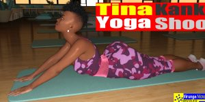 Congolese Model, Tina Kanku Yoga Class at Kinshasa Yoga Club