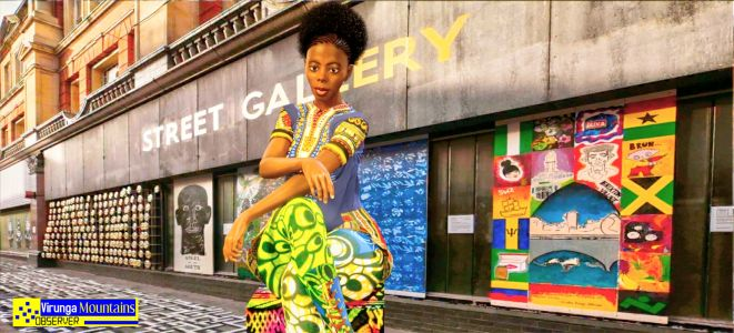 Congolese Model Shoot in Down town London