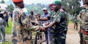 Nyatura Rebels return to the bush after their Surrender